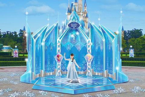 東京ディズニーリゾート、2018年冬のイベントを発表 エルサの氷の城をイメージしたフォトロケーション
