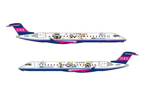 Ibex宮城観光prキャラクターを描いたむすび丸ジェットを5月16日