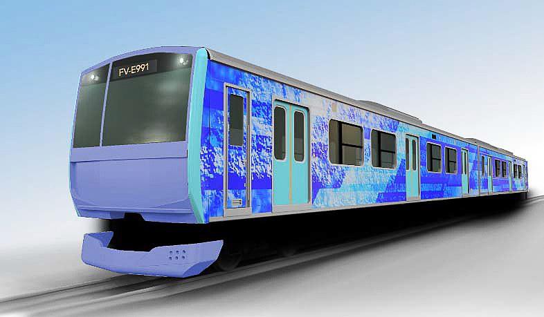 JR東日本は水素をエネルギー源とした「ハイブリッド車両(燃料電池)試験車両」の製作と実証試験の実施を発表