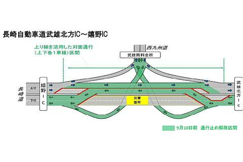 道 通行止め 西 九州 自動車 高規格幹線道路 西九州自動車道