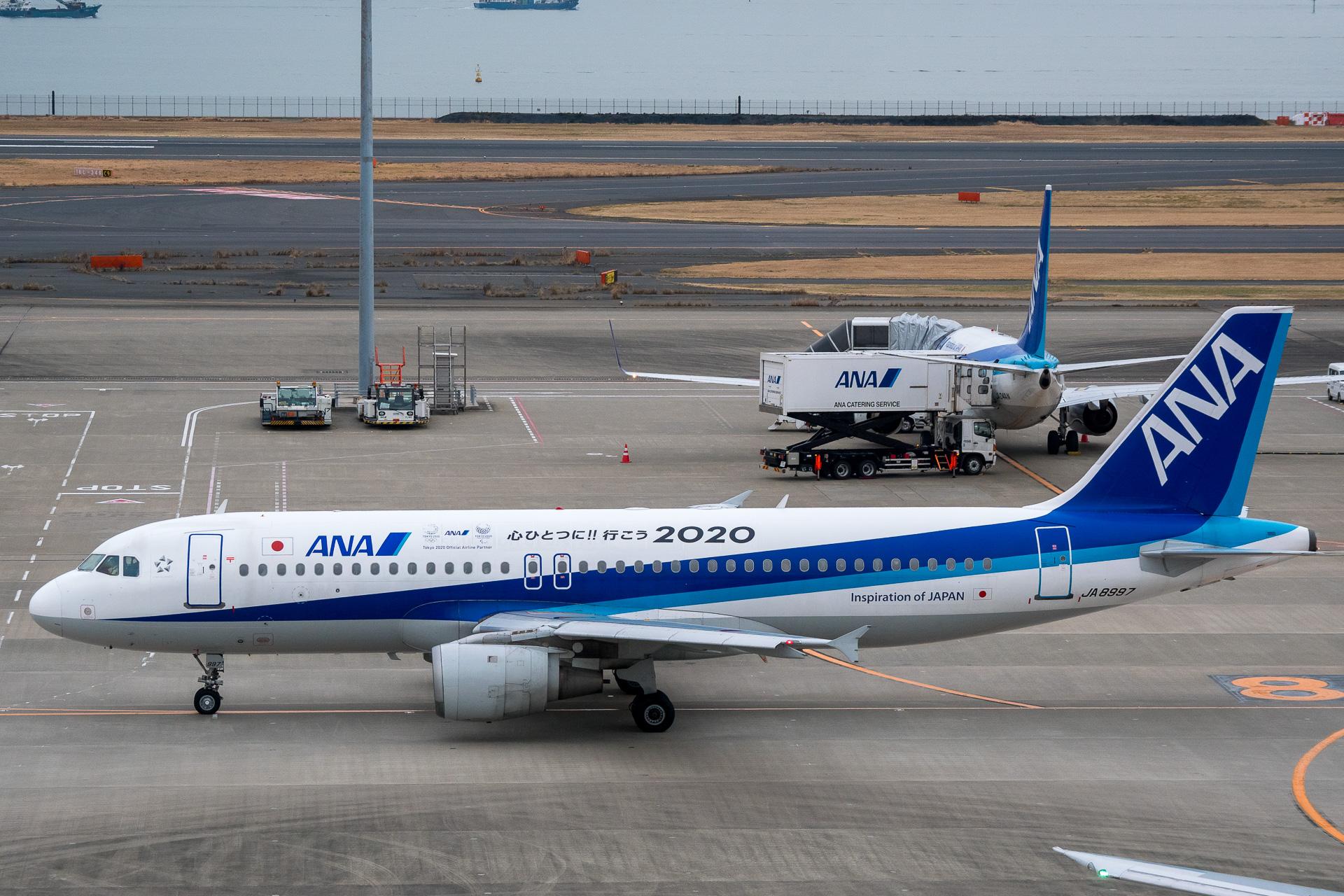 ANA仕様の国内線向けエアバス A320ceo型機が全機退役。2月29日の羽田 ...